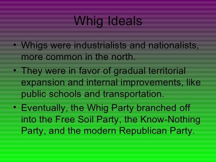 apush whigs vs democrats Apush semester 2 unit 4 study guide chapter 9: jacksonian america dorr rebellion alexis de tocqueville second party system - jacksonian democrats vs whigs spoils.