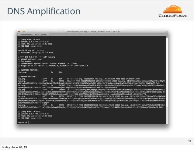 DNS Amplification 10 Friday, June 28, 13