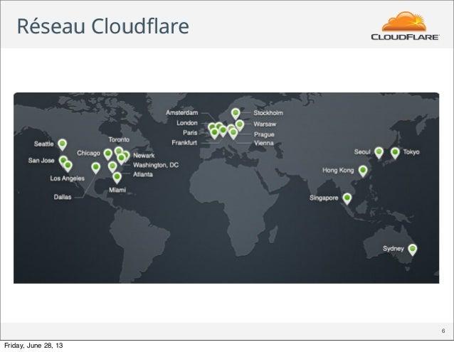 Réseau Cloudflare 6 Friday, June 28, 13