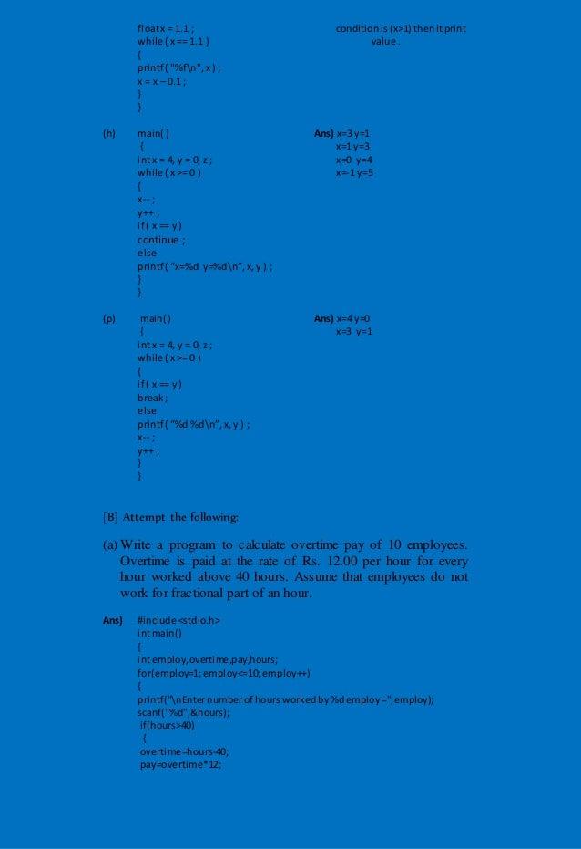 Let us C (by yashvant Kanetkar) chapter 3 Solution
