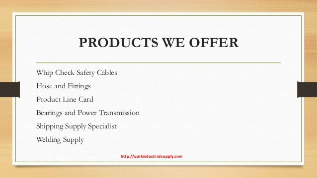 Premium Quality Whip Check Cables | Quik Industrial Supply Slide 3