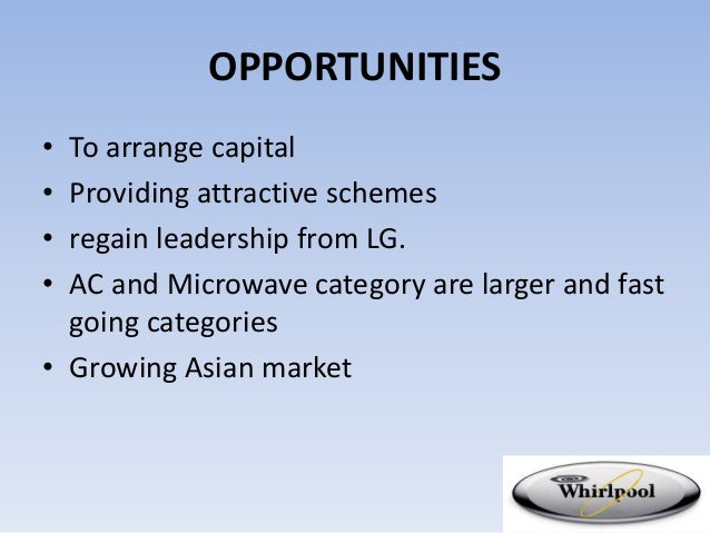 swot analysis of whirlpool The report covers the company's structure, operation, swot analysis, product and service offer whirlpool corporation - strategy, swot and corporate finance report summary whirlpool corporation - strategy, swot and corporate finance report, is a source of comprehensive company data and information.
