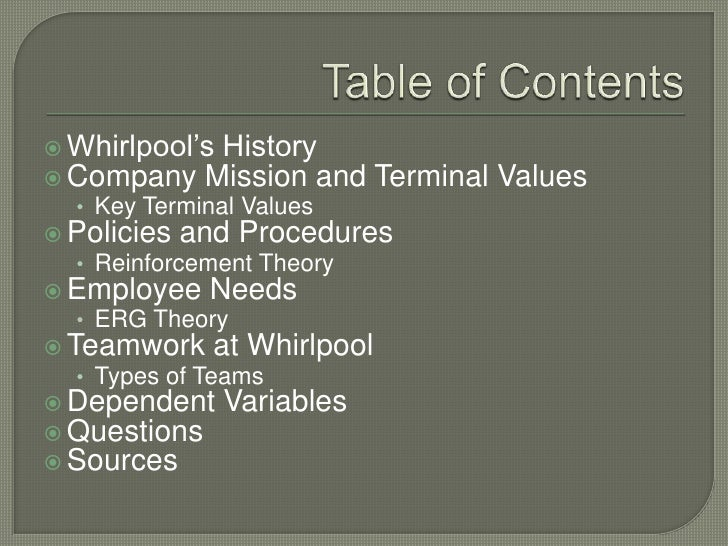whirlpool their code of ethics Ethics and business success overview ethics are the principles of all encompassing code of conduct organizations need to provide training for their employees.