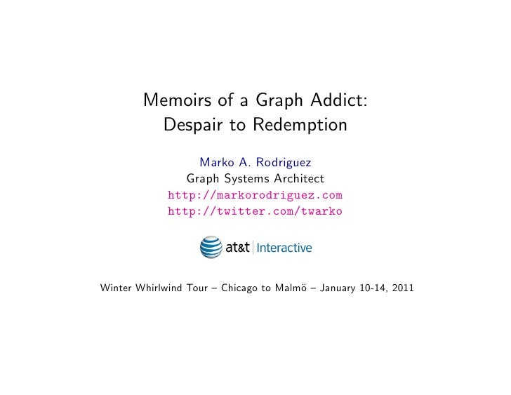 Memoirs of a Graph Addict:          Despair to Redemption                   Marko A. Rodriguez                 Graph Syste...