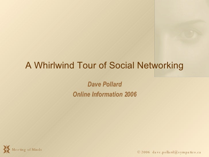 A Whirlwind Tour of Social Networking Dave Pollard Online Information 2006