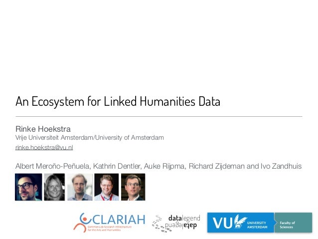 An Ecosystem for Linked Humanities Data Rinke Hoekstra