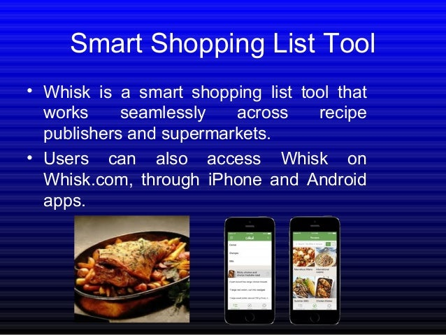 7 smart shopping list