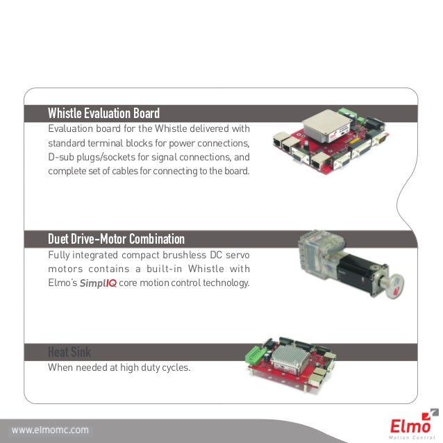 Whistle digital servo drives family | Elmo Motion Control