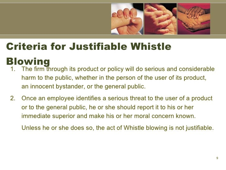 Whistle blowing policy Coursework Academic Service