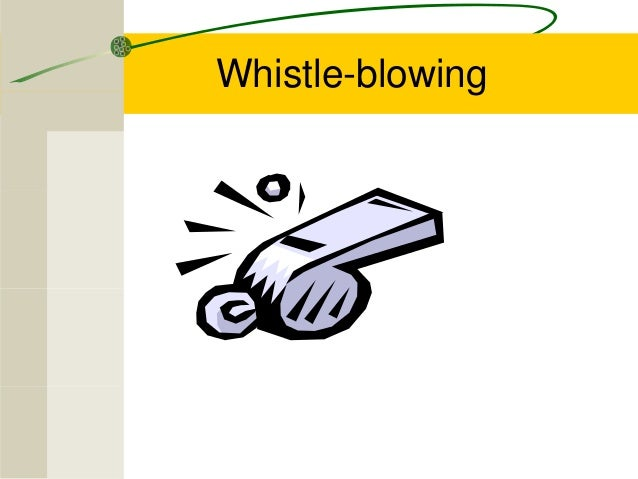 pros and cons of whistle blowing Whistle blowing - pros and cons 1 whistleblowing is a act in which a person who informs on another or makes public disclosure of corruption or wrongdoing or any misconduct.