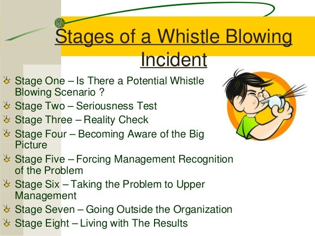 whistle blowing in organization Whistleblower policy may 17 a whistleblower as defined by this policy is an employee of osha continues to turn up the volume on whistle-blowing.