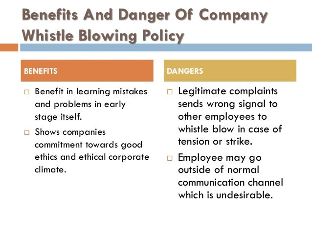 is whistleblowing ethical in business