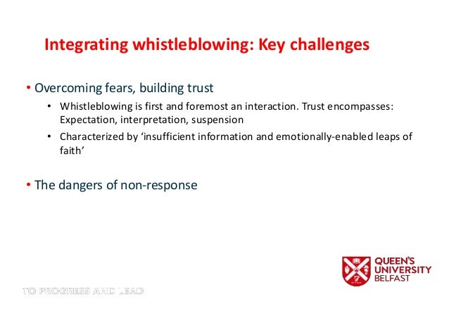whistleblowing an advantage to the organization Free essay: mba programme strategic management whistleblowing an advantage to the organization prepared by: | | abstract this paper studies the topic the.