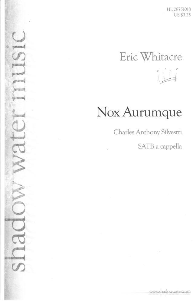 Whitacre   nox aurumque