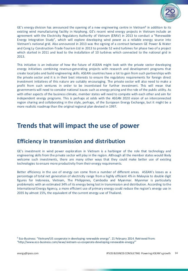 Powering ASEANs growth. A look at the trends that will ...