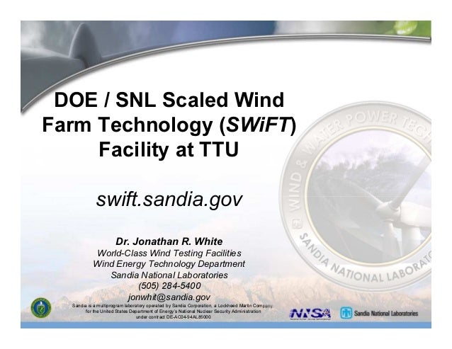 Sandia is a multiprogram laboratory operated by Sandia Corporation, a Lockheed Martin Company, for the United States Depar...
