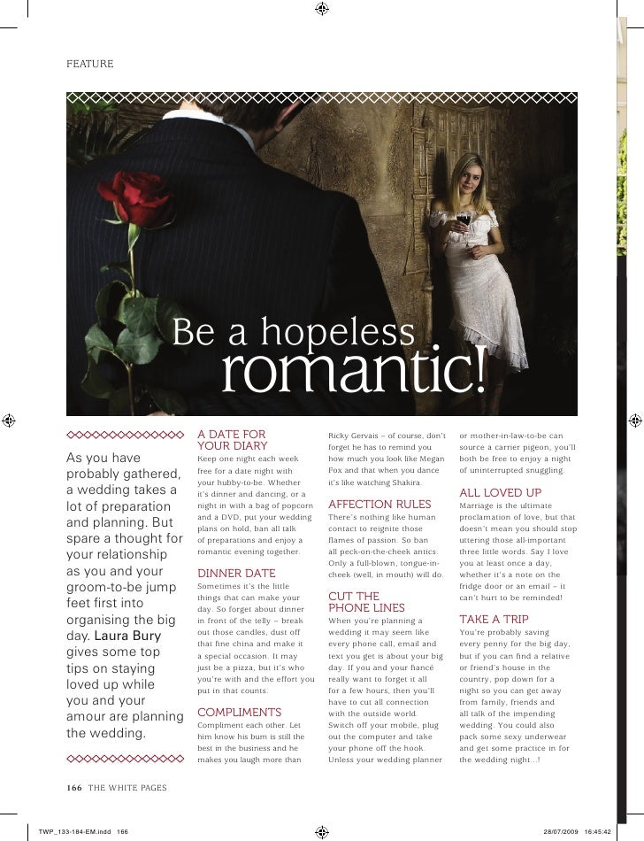 what is a hopeless romantic mean