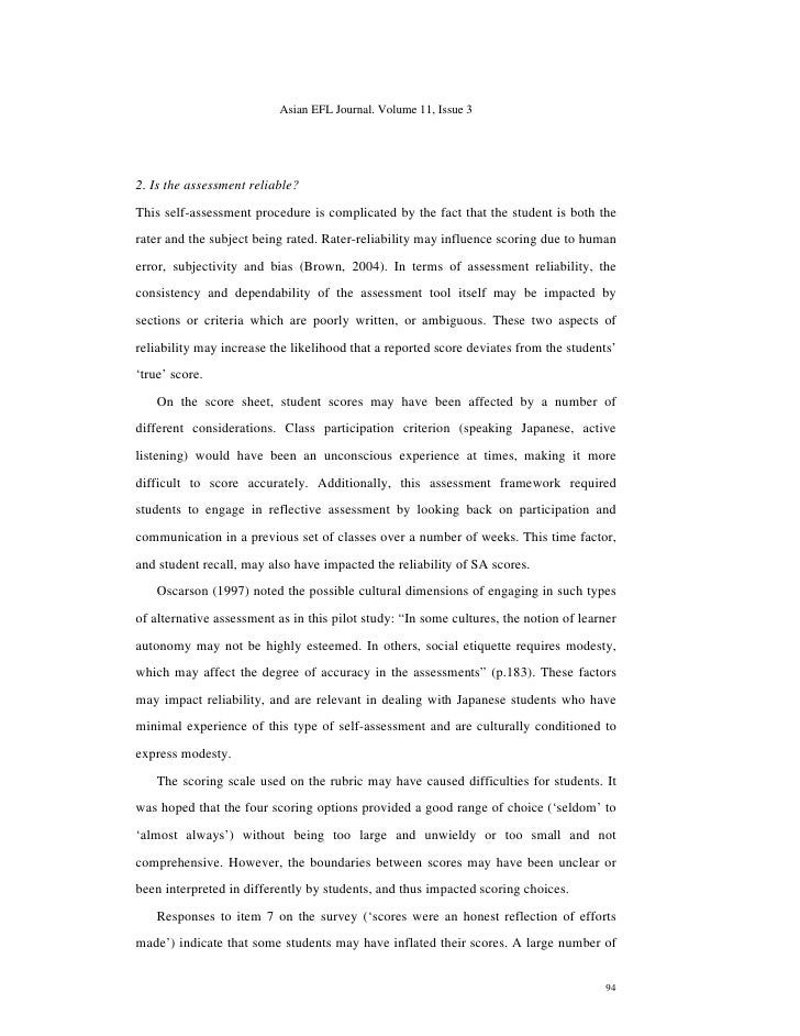 Speech self evaluation essay