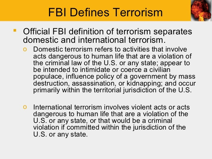 an analysis of the definition description of terrorism Definition a task-organized force of armed personnel designed to quickly respond to threats and incidents on installations and ships supporting users have an ad free experience.