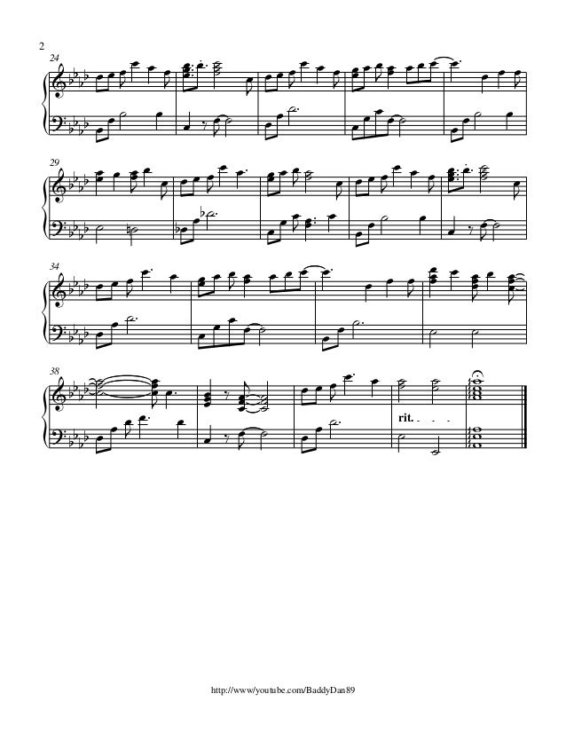Piano anime piano sheet music : White album piano sheet