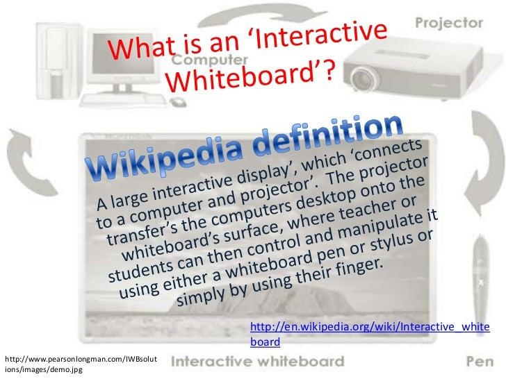 http://en.wikipedia.org/wiki/Interactive_white                                         boardhttp://www.pearsonlongman.com/...