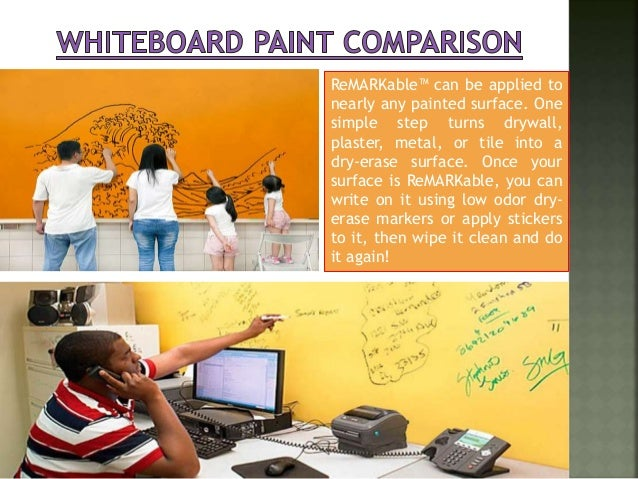 Whiteboard paint comparison for Remarkable dry erase paint