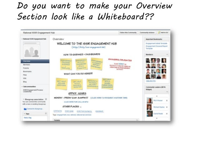 Do you want to make your OverviewSection look like a Whiteboard??