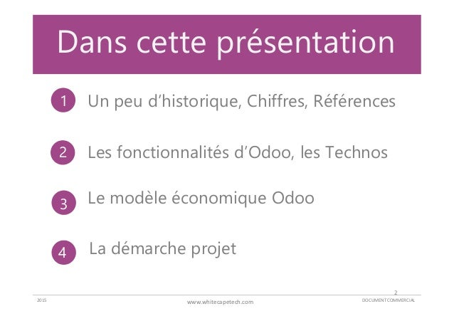 Whitecape - Odoo - Offre ERP Slide 2