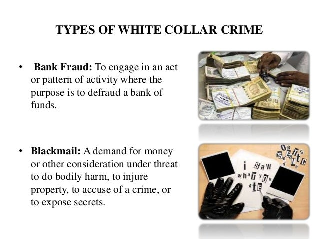 white collar crime 6 types of white collar crime