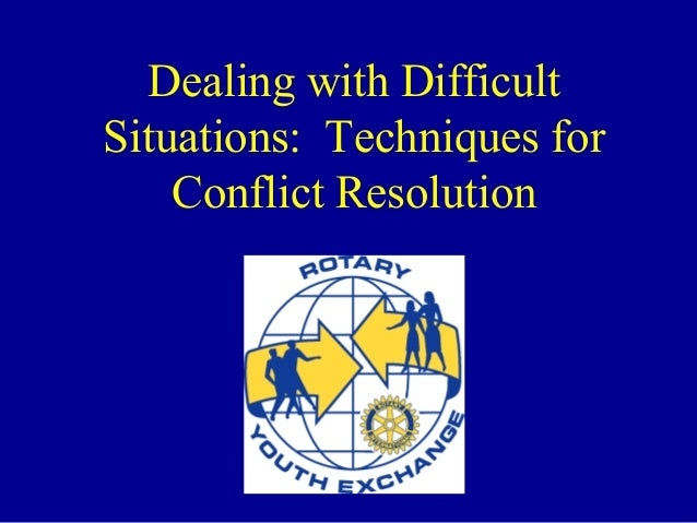 handling difficult situations
