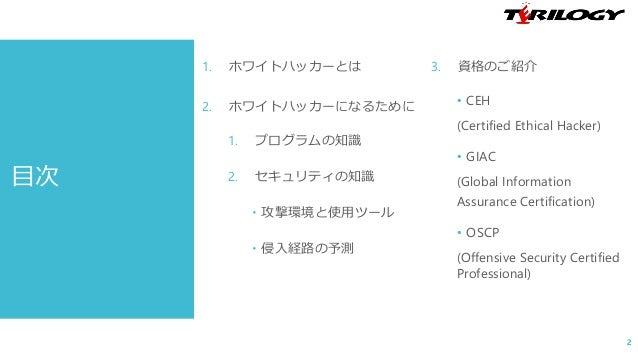 ホワイトハッカー養成講座(1) ~ホワイトハッカーとは~ Slide 2