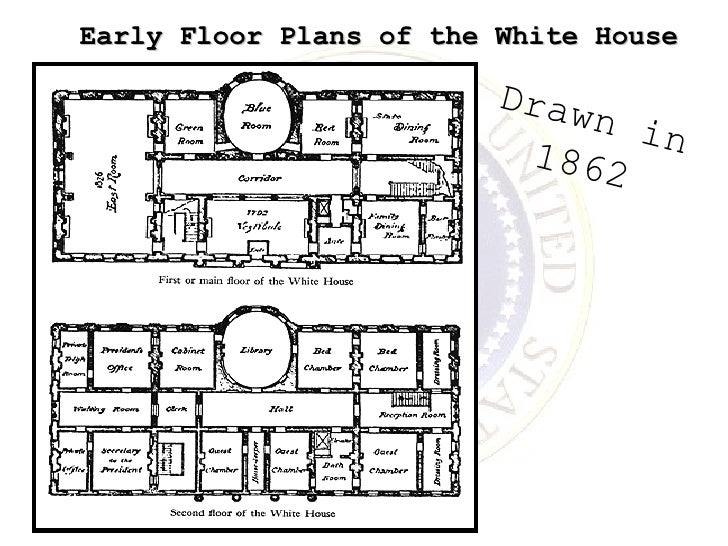 Early Floor Plans of the White House Drawn in 1862