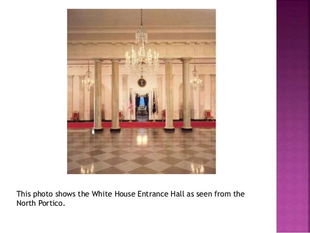 The East Room of the White House is used for entertaining. Large  parties and receptions are held in the East Room.