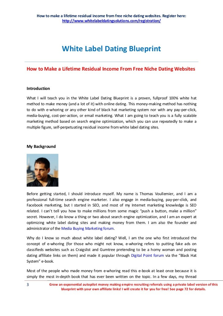 white label dating service This white label product agreement is designed to cover the manufacturing of generic products by one party to be branded for, and sold by, another party.