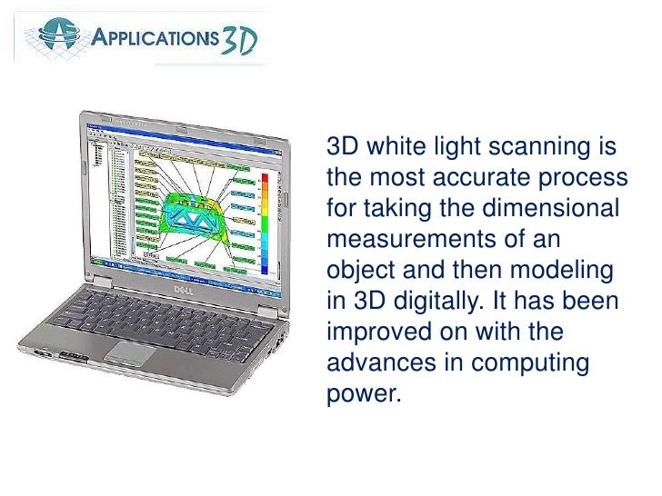 3D white light scanning is the most accurate process for taking the dimensional measurements of an object and then modelin...