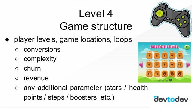 ● major KPI ● metrics of quality ● events & funnels ● game structure ● game economy