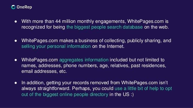 How to opt out of White pages com 2019 guide