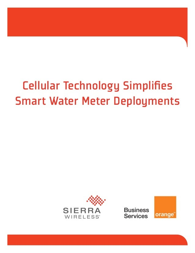 [whitepaper] Cellular Technology simplifies Smart Water Meter Deployments