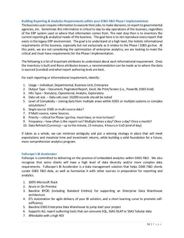 D365 Finance & Operations - Data & Analytics (see newer