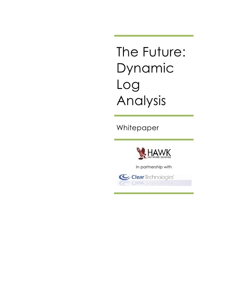 Dynamic Log Analysis - The Future