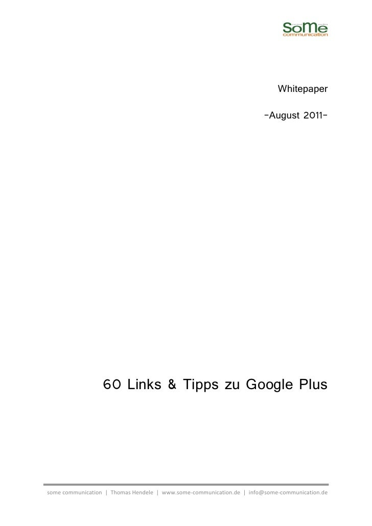 Whitepaper                                                                       -August 2011-                  60 Links &...