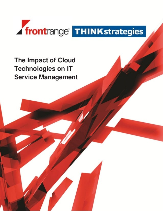 The Impact of CloudTechnologies on ITService Managementsubtitle