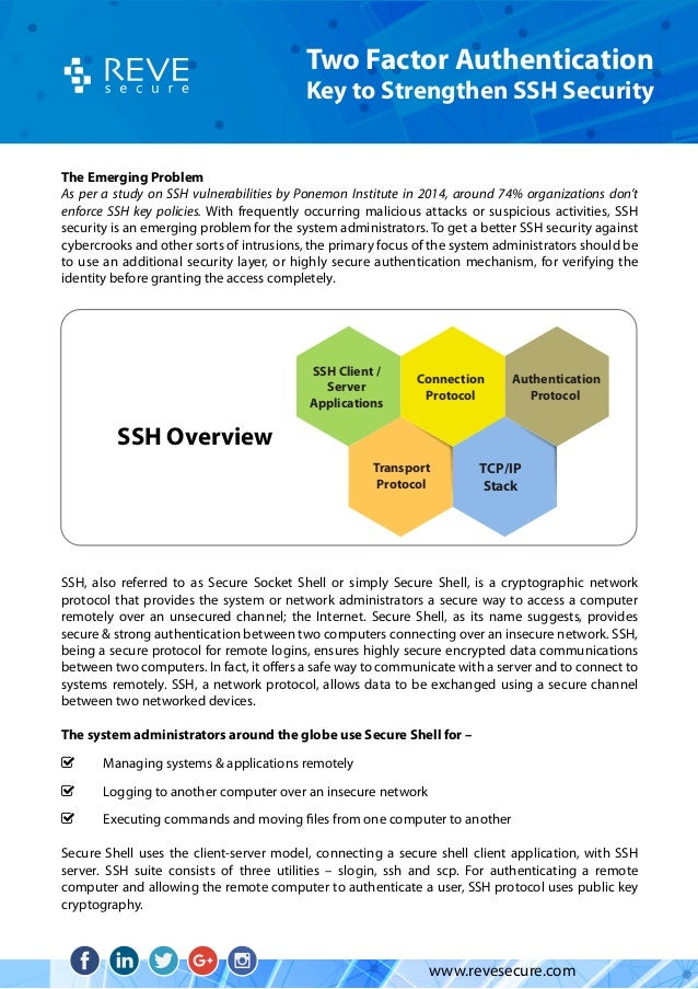 Two Factor Authentication for UNIX/Linux SSH Security