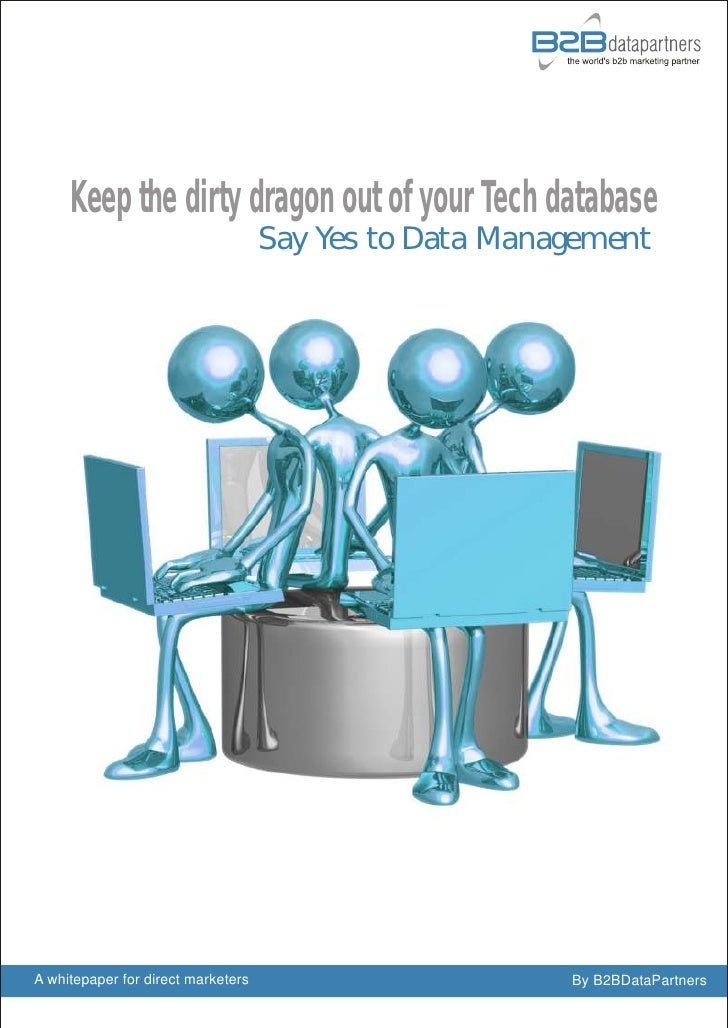 Keep the dirty dragon out of your Tech database                                    Say Yes to Data ManagementA whitepaper ...
