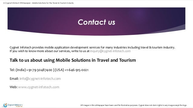 Whitepaper Mobile Solutions for the Travel and Tourism Industry