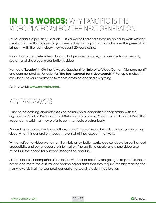 millennial generation essay