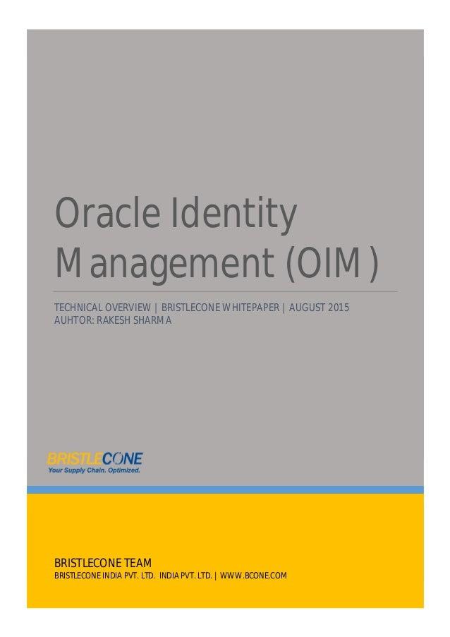 Whitepaper Oracle Identity Management