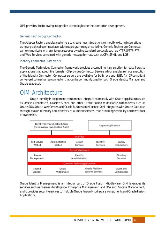 Whitepaper Oracle Identity Management
