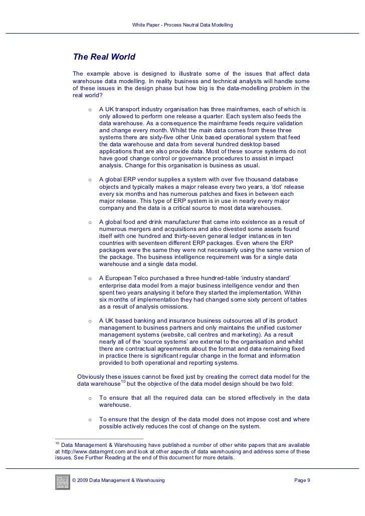 White Paper - Process Neutral Data Modelling