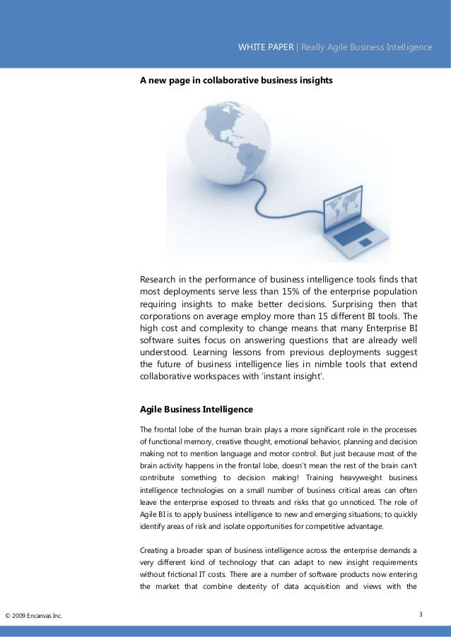 term paper business intelligence Term paper on business intelligence this 3 page paper examines and defines business intelligence.